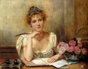 George Goodwin Kilburne - Penning a Letter