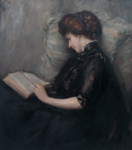 Lady Reading Poetry by Ishibashi Kazunori